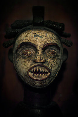 African wooden mask - p1028m2030717 by Jean Marmeisse