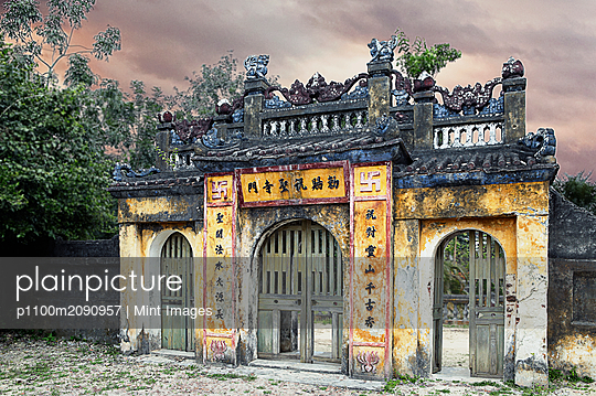Weathered Oriental Gateway - p1100m2090957 by Mint Images