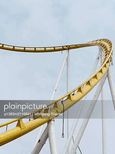 Roller coaster - p1383m2116841 by Wolfgang Steiner