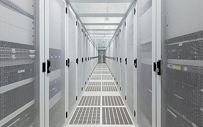 Hallway in server room - p429m665324f by Mischa Keijser
