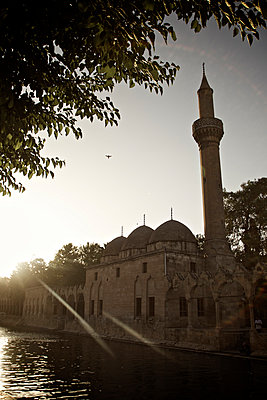Halil-Rahman-Moschee im Sonnenschein, Sanliurfa, Türkei - p586m971411 von Kniel Synnatzschke