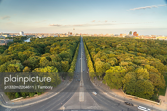 View of Berlin skyline from Siegessäule - p1332m2204611 by Tamboly