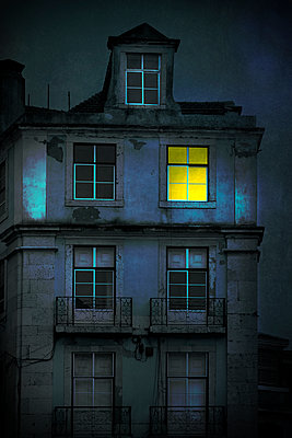 Lit Lisbon Window - p1248m2134718 by miguel sobreira