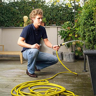 Garden work - p2560027d by Anton Badin