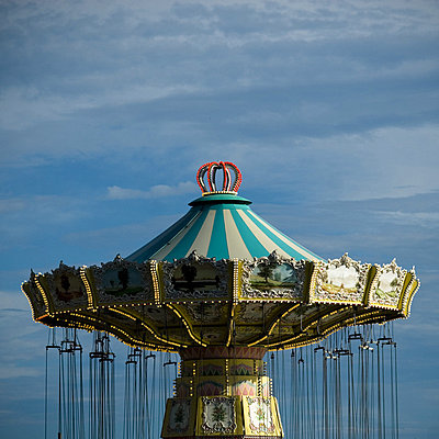 A carousel in the tivoli (Grona Lund) in Stockholm, Sweden - p348m733624 by Martina Sjaunja