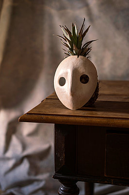 Pineapple hidden behind mask - p947m2178570 by Cristopher Civitillo