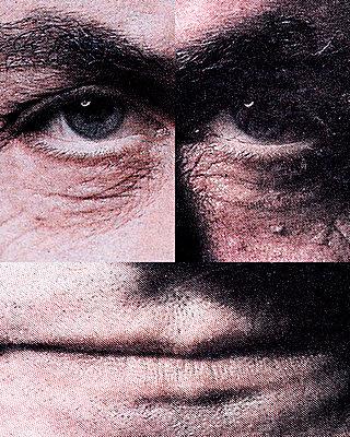 Collage, Augen und Mund  - p265m2082704 von Oote Boe