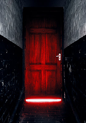 Entrance and door in mysterious light - p1280m2281181 by Dave Wall