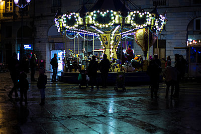 Christmas Merry-go-round - p445m1208273 by Marie Docher
