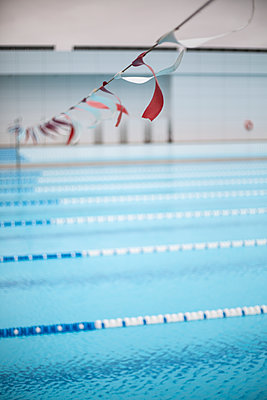 Swimming lanes - p1367m2031279 by Teresa Walton