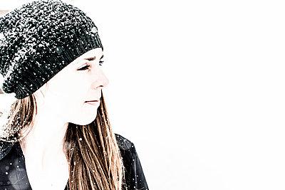 Winter Portrait - p1086m984629 by Carrie Marie Burr