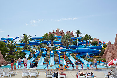 Portugal, Water slides  - p1612m2223510 by Heidi Coppock-Beard