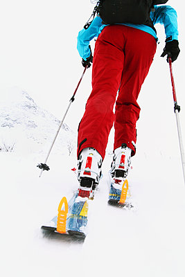 Person on skis, low section - p312m1147512 by Hakan Hjort