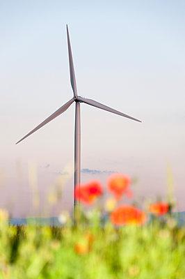 Windkraft, Eure-et-Loir, Frankreich - p1079m1074163 von Ulrich Mertens