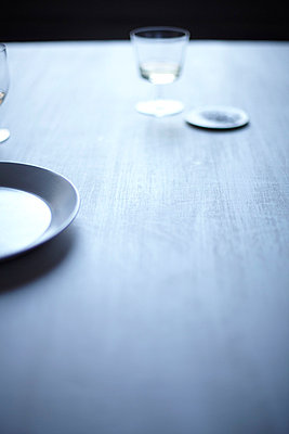 Still Life on Grey Dining Table III - p938m754454 by Christina Holmes