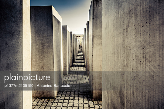 Germany, Berlin, Berlin Mitte, Holocaust memorial - p1377m2105150 by Antonino Bartuccio
