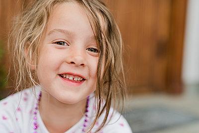 Portrait of girl - p312m2092013 by Karolina  Ehrenpil