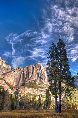 Waterfall in Yosemite National Park - p575m1074417f by Sven Halling