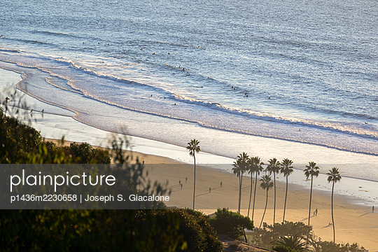 Looking down on La Jolla Shores Beach. - p1436m2230658 by Joseph S. Giacalone