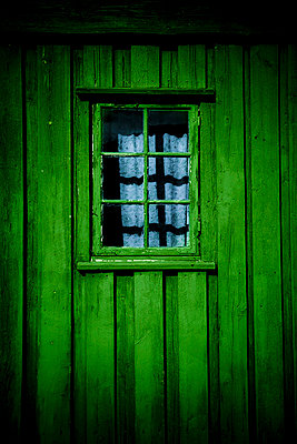 Window in an old wooden shed - p2481195 by BY