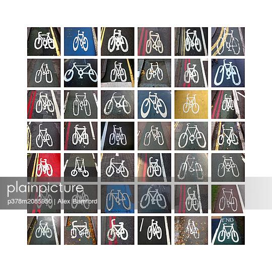 Cycle lanes - p378m2085950 by Alex Bamford