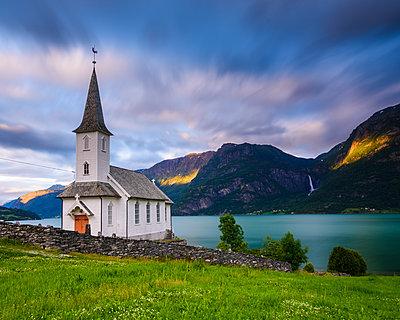 Church at lake - p312m1472031 by Mikael Svensson