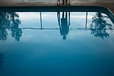 Pool Reflection - p1503m2015970 by Deb Schwedhelm