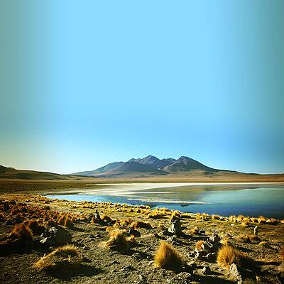 Die Anden an der Laguna Hedionda - p1038m1575366 von BlueHouseProject