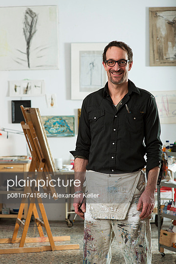 Maler seinem Atelier - p081m741565 von Alexander Keller