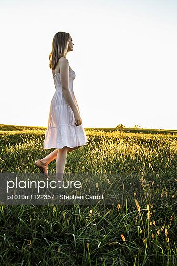 Pretty Girl in Field  - p1019m1122357 by Stephen Carroll