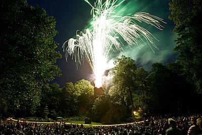 Feuerwerk im Schlosspark Ludwigsburg - p2800364 von victor s. brigola