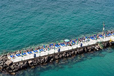 Sunbathing platform, Sorrento, Italy - p1170m1590108 by Bjanka Kadic