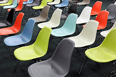 Colourful chairs - p265m1000598 by Oote Boe