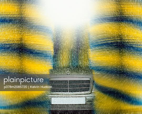 Carwash spray - p378m2085720 by Kelvin Hudson