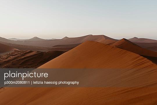 Namibia, Namib desert, Namib-Naukluft National Park, Sossusvlei, sunset at Dune 45 - p300m2080811 by letizia haessig photography