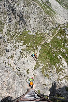 Klettern, Nebelhorn, Bayern - p427m1072745 von R. Mohr