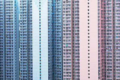 Apartment blocks, Hong Kong - p651m2152251 by Ian Trower