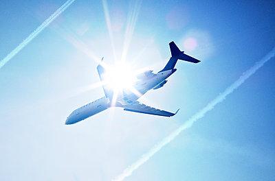 Airplane in the sky - p1250m1045040 by werner bartsch