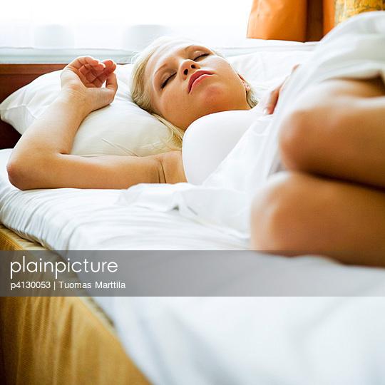 Woman sleeping - p4130053 by Tuomas Marttila