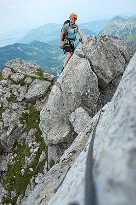 Klettern, Nebelhorn, Bayern - p427m1072742 von R. Mohr