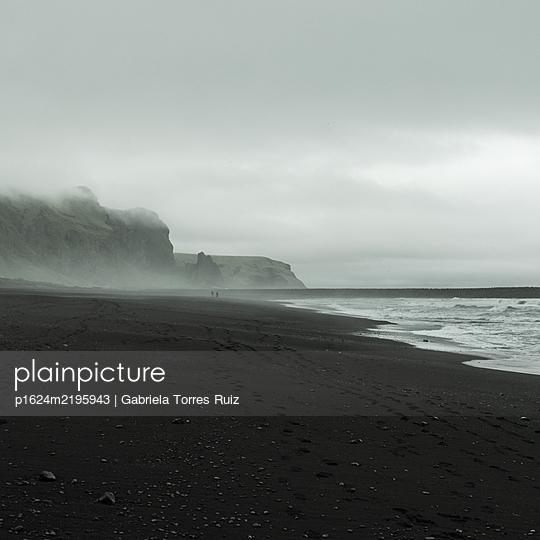 Shore in the fog, Iceland - p1624m2195943 by Gabriela Torres Ruiz