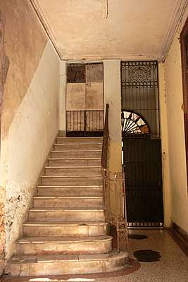 Marble staircase in Havana apartment - p3314431 by Gail Symes