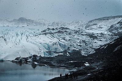 Gletscherzunge Sólheimajökull - p1105m1222101 von Virginie Plauchut