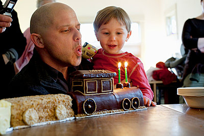 Father and son on son's two year birthday - p6350003 by Julia Kuskin