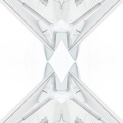 Abstract kaleidoscope pattern Liège-Guillemins station in Liège - p401m2209320 by Frank Baquet
