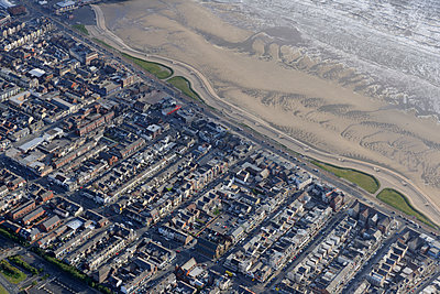 Blackpool beach & town - p1048m1182451 by Mark Wagner