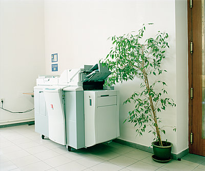 Kopiergerät neben einer Grünpflanze - p1320m1222073 von Matija Brumen