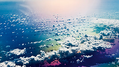 Cloud formations above the sea - p1492m2037285 by Leopold Fiala