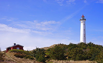 Lighthouse Lyngvig Fyr in Jutland - p162m1220805 by Beate Bussenius