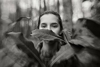 Behind the Leaves - p1503m2015954 by Deb Schwedhelm